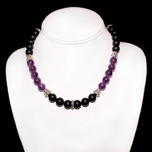 Happy Buddha Amethyst Necklace
