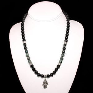 Tourmaline Hamsa Power Necklace